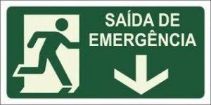 Sinalização de saídas de emergência