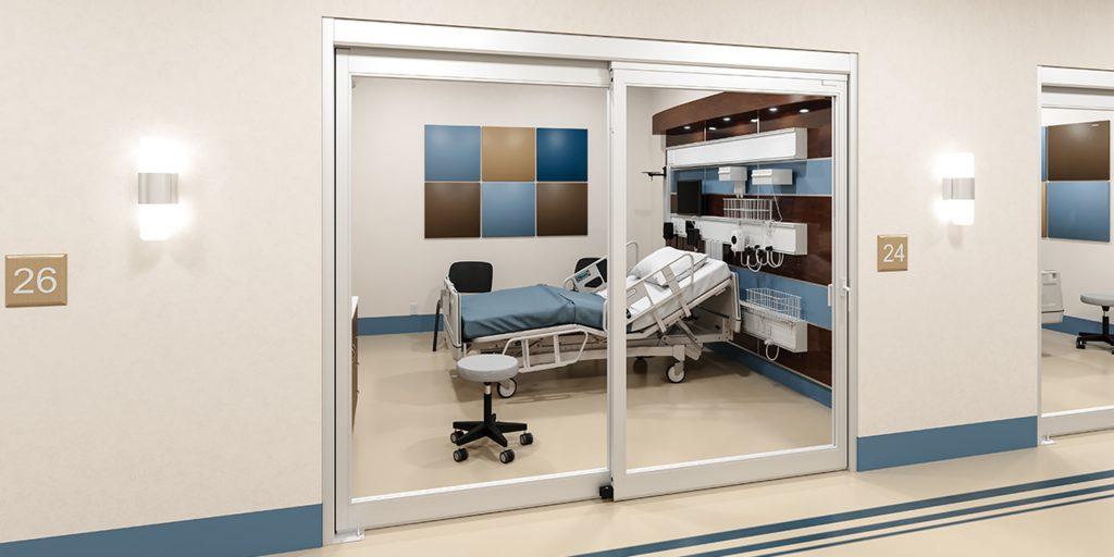 Tipos de portas para hospital